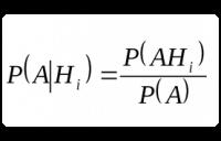 Формула Байеса