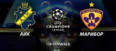 Прогноз и ставка на матч квалификации Лиги Чемпионов АИК - Марибор
