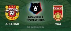 Арсенал Тула – Уфа. Прогноз на матч 11 августа