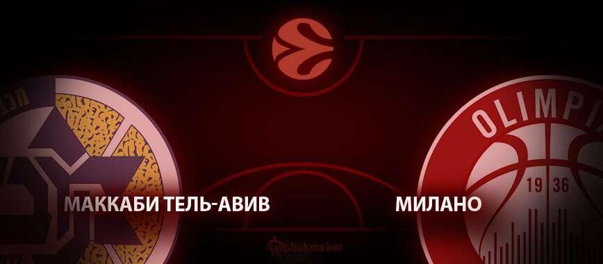 Маккаби Тель-Авив – Милано. Прогноз на матч 16 января