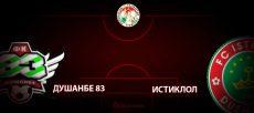 Душанбе 83 - Истиклол. Прогноз на матч 8 апреля